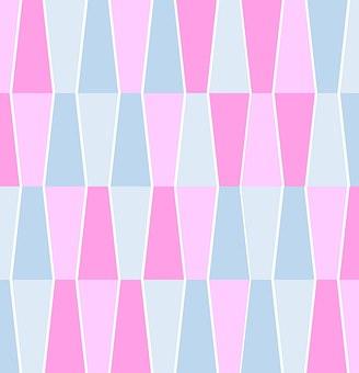 Geometric, Pattern, Design, Pastels, Pink, Blue, Pale
