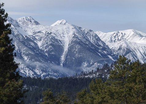 Snow Covered, Mountain, Pemberton, British Columbia