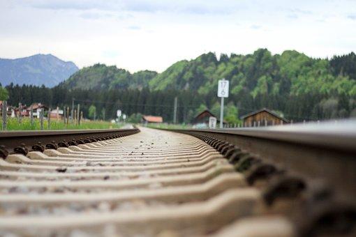 Train, Gleise, Langenwang, Railway, Seemed