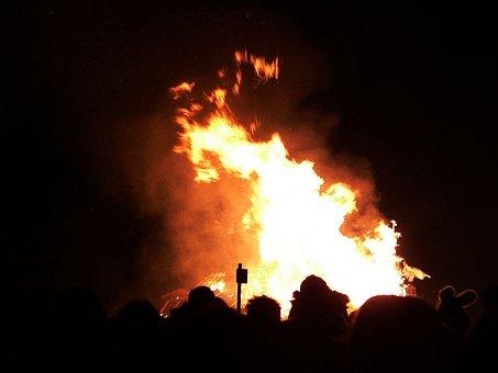 Fire, Bonfire, Guys, Revelry, Blaze