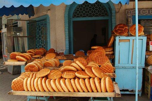 Bread, Tunisia, Market, Bakery