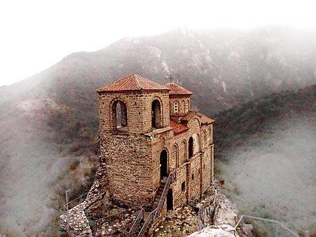 Assenova Fortress, Bulgaria, Tourism, Fog, Rodopi