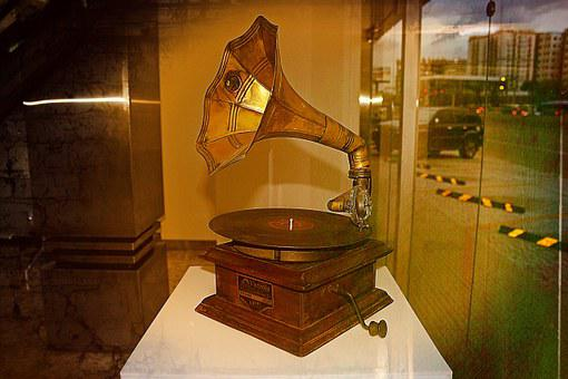 Victrola, Music, Horn, Old