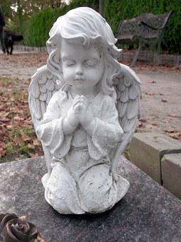 Angel, Faith, Cemetery, Hope, Fig, Sculpture