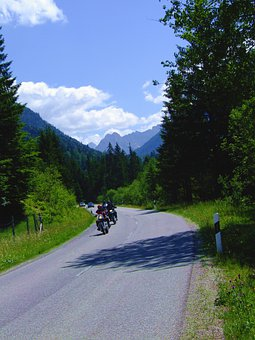Bavaria, Mountains, Motorcycles, Travel, Germany