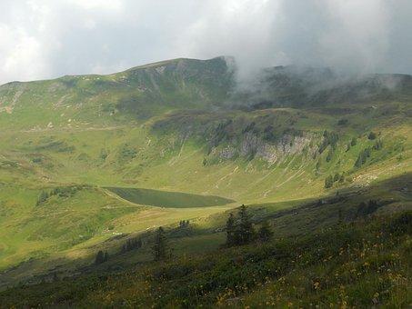 Austria, Landscape, Sky, Clouds, Scenic, Fog, Mountains