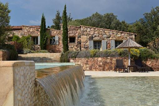 Holiday House, France, Corsica, Pool, Travel, Nature