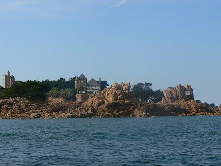Sailing, Sea, Boat, Brittany, France, Bréhat, Ile, Wind