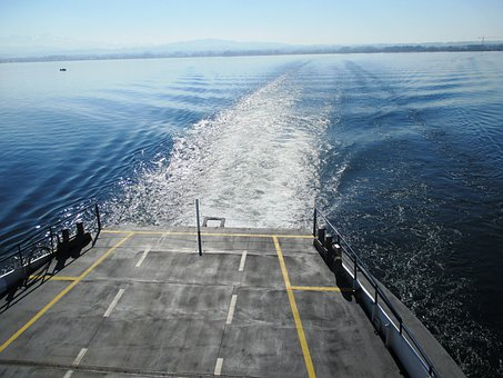 Shipping, Ferry, Wake, Lake, Lake Constance, Germany