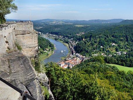 Saxon, Switzerland, Landscape, Elbe, Sandsteingebierge