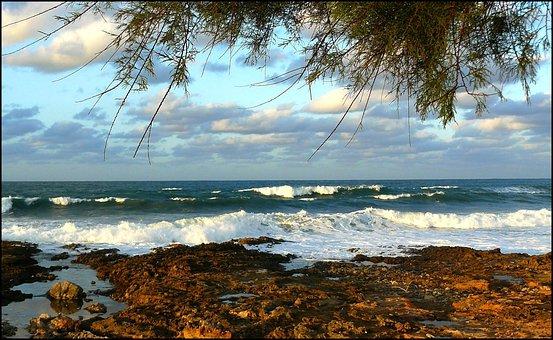 Sea, Water, Beach, Wave, Ocean, Coast, Mediterranean