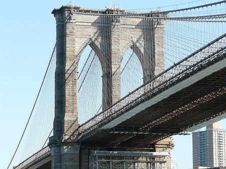 Brooklyn, Bridge, New York, Suspension, Manhattan
