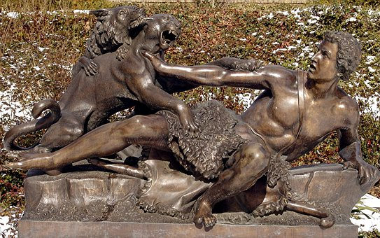 Potsdam, Park, Sculpture, Art, Copper, Hunting