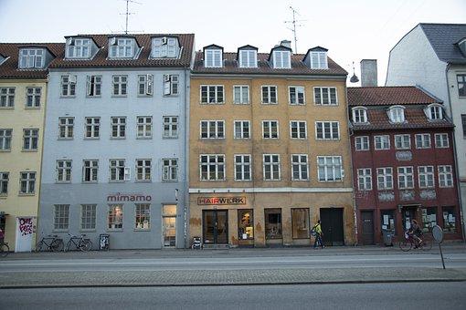 Denmark, House, Copenhagen, Street, Danish