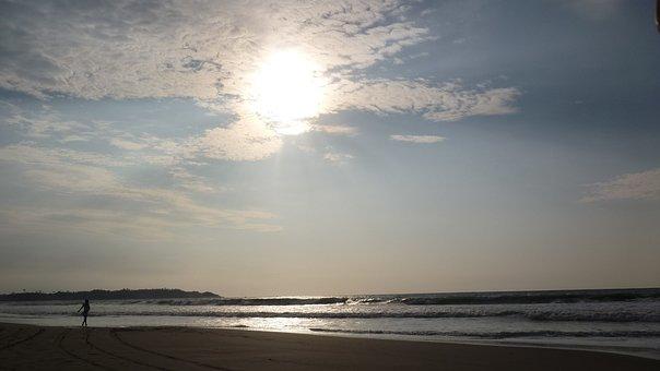 Pedernales, Ecuador, Beach, Sea, Sun, West