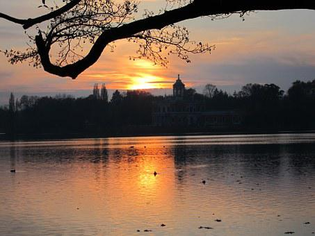 Heiligersee, Marble Palace, Potsdam, Sunset, Evening