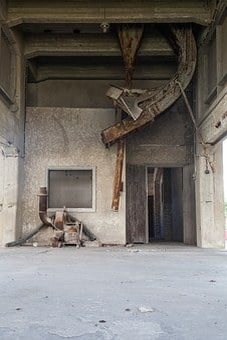 Broken Windows, Brick Wall, Abandoned Factory, Empty