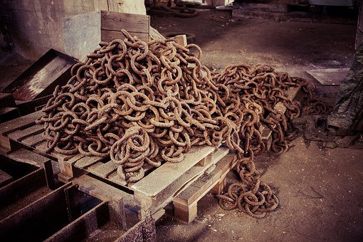 Rusty Chain, Decay, Abandoned Factory, Factory