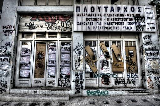 Show, Abandoned, Closed, Facade, Store, Decay, Old