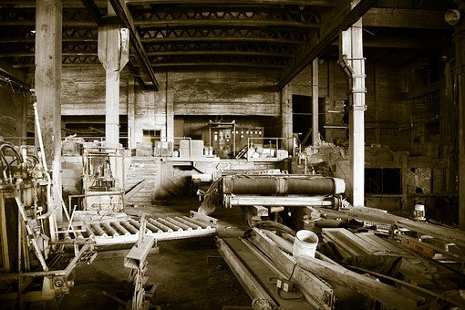 Old Factory, Retro, Abandoned, Outdoors, Empty, Old