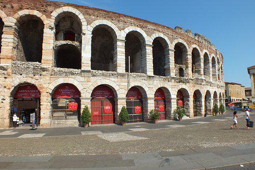 Verona, Italy, Arena Di Verona, Antique, Roman