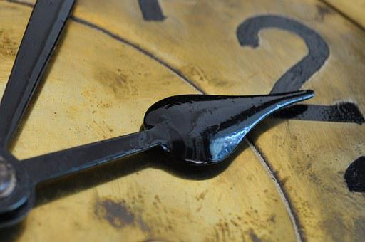 Clock, Clock Hands, Time, Old, Antique, Minute