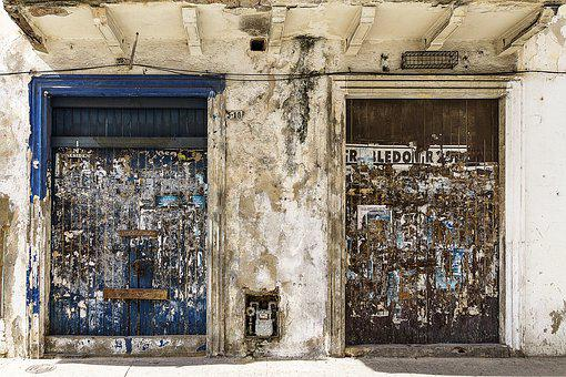 Doors, Architecture, Colonial, Grunge, Painted