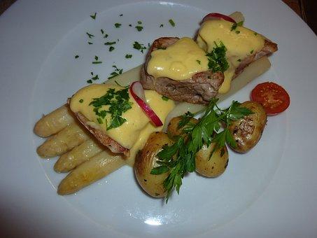 Eat, Asparagus, Small Potatoes, Tenderloin, Food