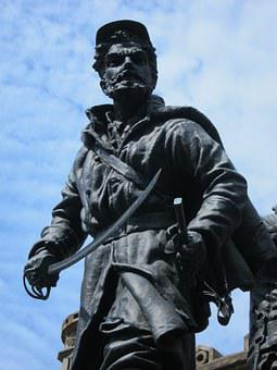 Soldier, Bronze, Statue, Monument, Memorial, War