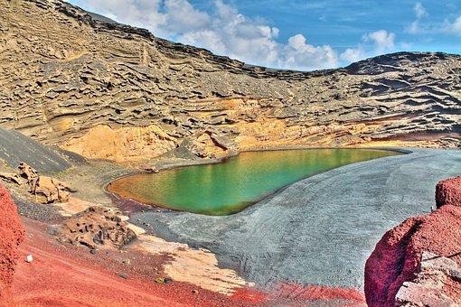 Green Lake, Lanzarote, Spain, Canary Islands