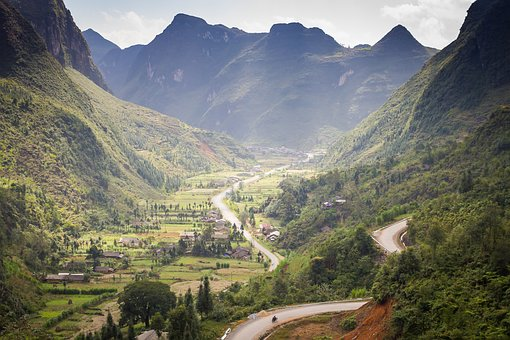 Vietnam, Mountains, Valley, Canyon, Landscape