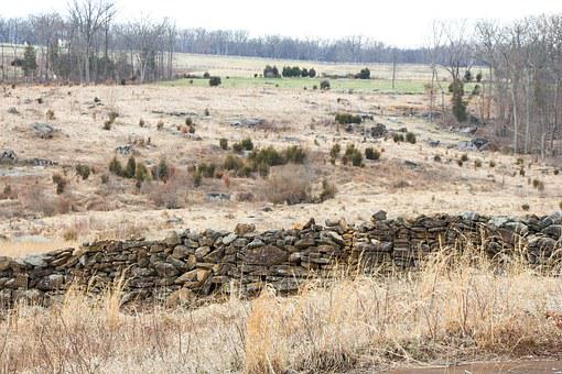 Civil War, Gettysburg, Battlefield, Stone Fence, Fence