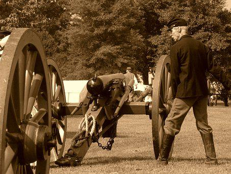 Cannon, Civil War, Soldier, Artillery, Army, Sepia
