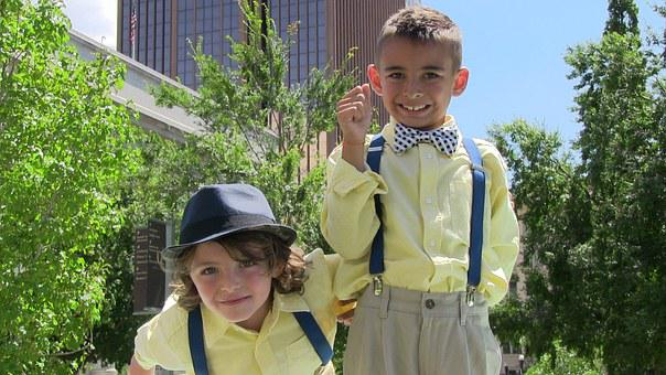 Kids, Children, Suspenders, Young, Clothes, Traditional