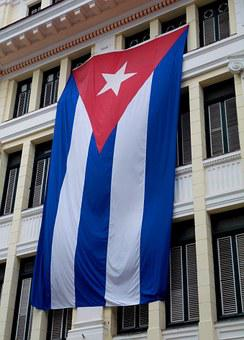 Flag, Cuba, Havana, Revolution, Building, Red