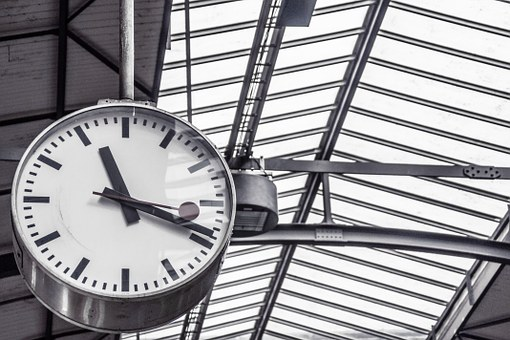 Departure, Clock, Time, Schedule, Hour, Minute, White