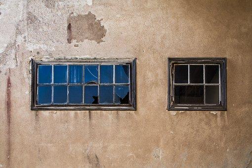 Broken Windows, Abandoned Factory, Empty, Abandoned