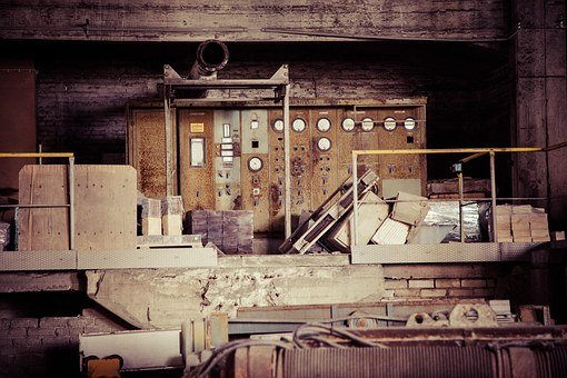 Old Factory, Abandoned, Outdoors, Empty, Old, Building