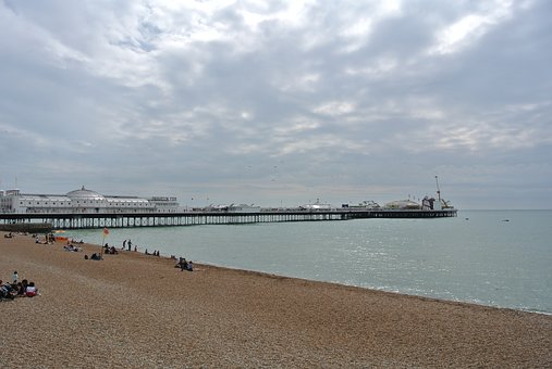 Brighton Pier, England, Beach, Amusement, Pebble Beach