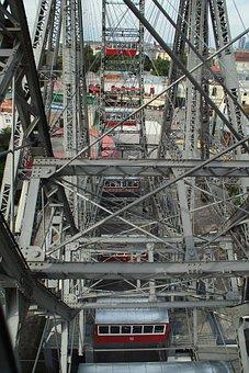 Vienna, Ferris Wheel, Prater, Amusement Park, Austria