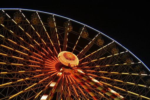 Big Wheel, Ferris Wheel, Night, Ferris, Wheel