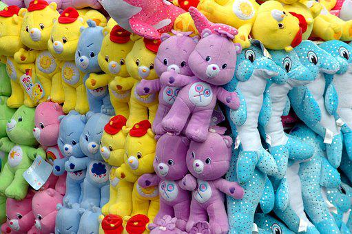 Stuffed Animals, Carnival, Amusement, Games, Recreation