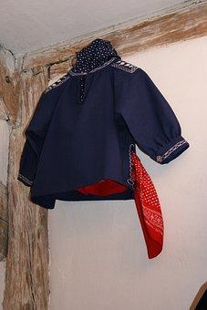 Garment, Kittel, Schwaben Frock, Costume, Cotton, Blue