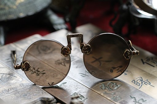 Glasses, Antique, Old, Read, Historically