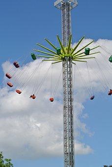 Funfair, Ride, High, Fun, Amusement, Park, Holiday