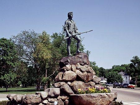 Minuteman Statue, Lexington, Massachusetts, Towns