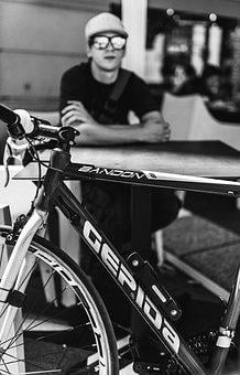 Bicycle, Guy, Waiting, Sunglasses, Man, Bike, Lifestyle