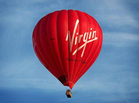 Balloon, Hot, Air, Virgin, Hot Air Balloon, Lift, High