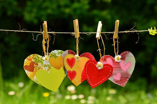 Heart, Cord, Suspended, Love, Together, Love Symbol