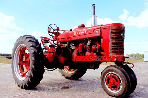 Tractor, Vintage, Old, Farm, Agriculture, Machinery